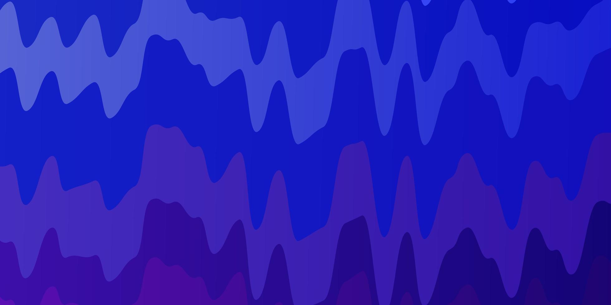 blauer, lila Hintergrund mit Wellenlinien. vektor