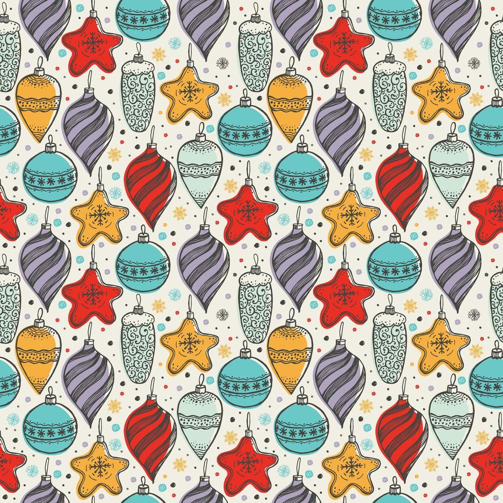 jul sömlösa mönster med julsymboler vektor