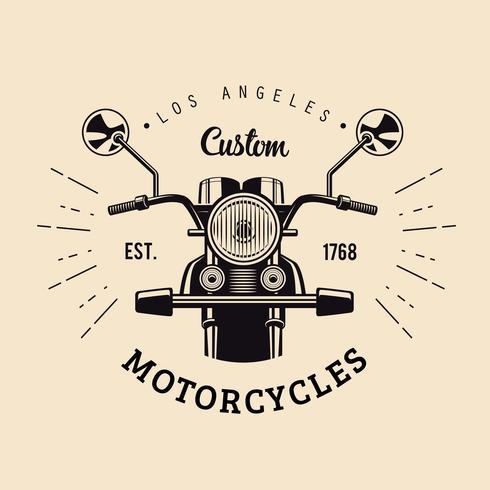 Vintage Motorcyklar Emblem vektor