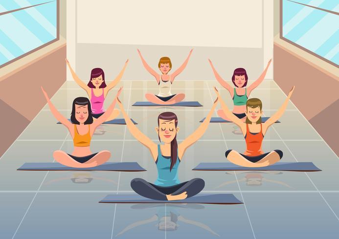 Yoga Klasse vektor