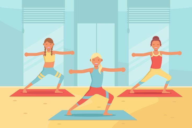 Yoga klass Vector