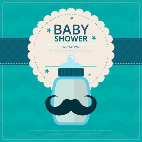baby pojke dusch vektor