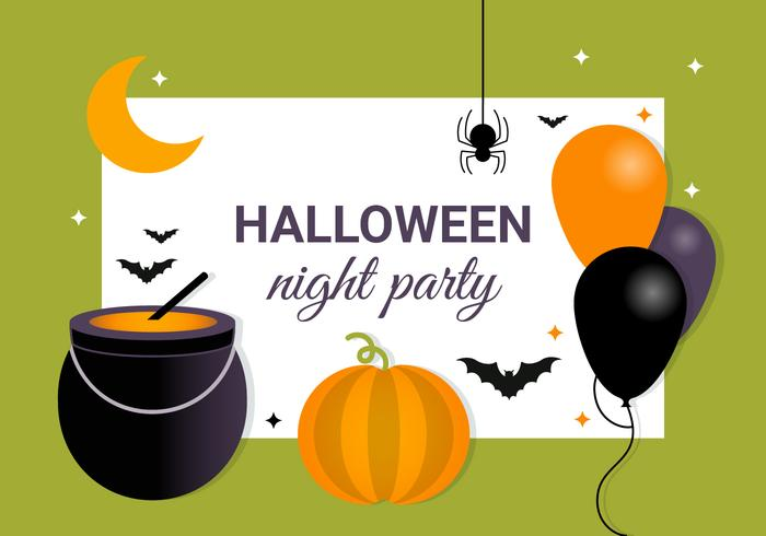 Gratis Scary Halloween Vector Elements Collection
