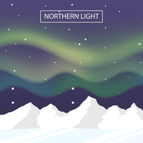 norrsken landskap vektor bakgrund