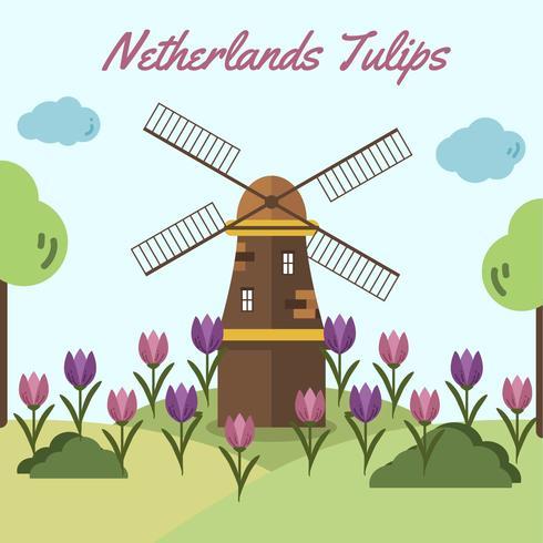 Nederländska tulpanvektor vektor