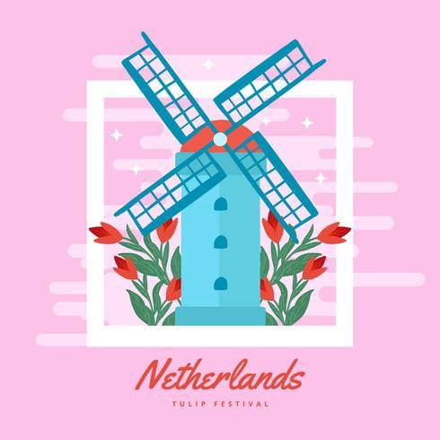 Niederländische Tulpenfestspiele vektor