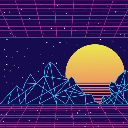 Retro Vintage 80er Jahre geometrischen Stil abstrakten Hintergrund vektor