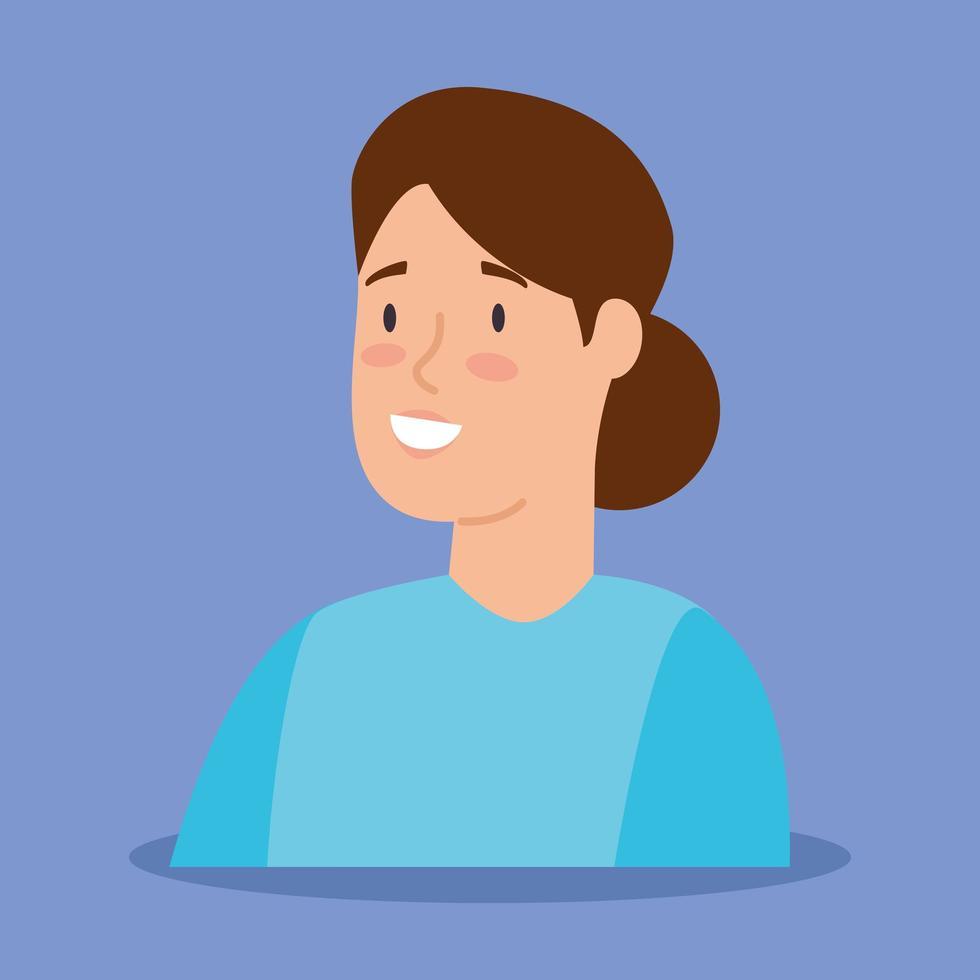 kvinna avatar karaktär vektor