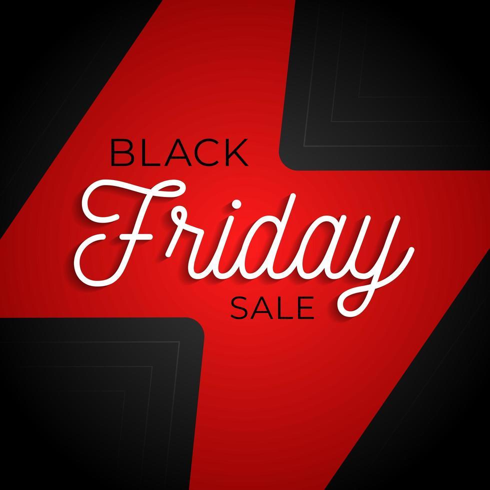 svart fredag flash stor försäljning fyrkantig affisch. grafisk vektordesign av affärsbanner vektorillustration. etikett för butikskampanj. reklam för marknadsföringsevenemang. vektor