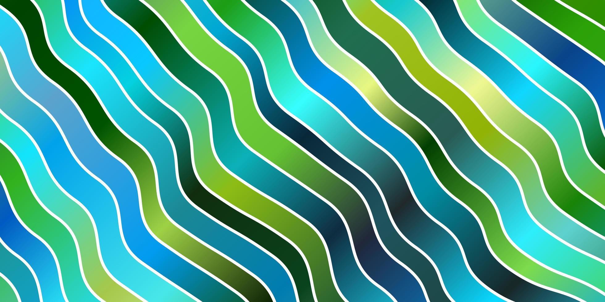 hellblaue, grüne Vektorschablone mit schiefen Linien. vektor