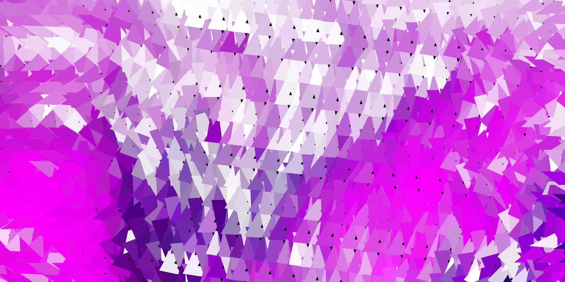 ljuslila, rosa vektor triangel mosaik bakgrund.