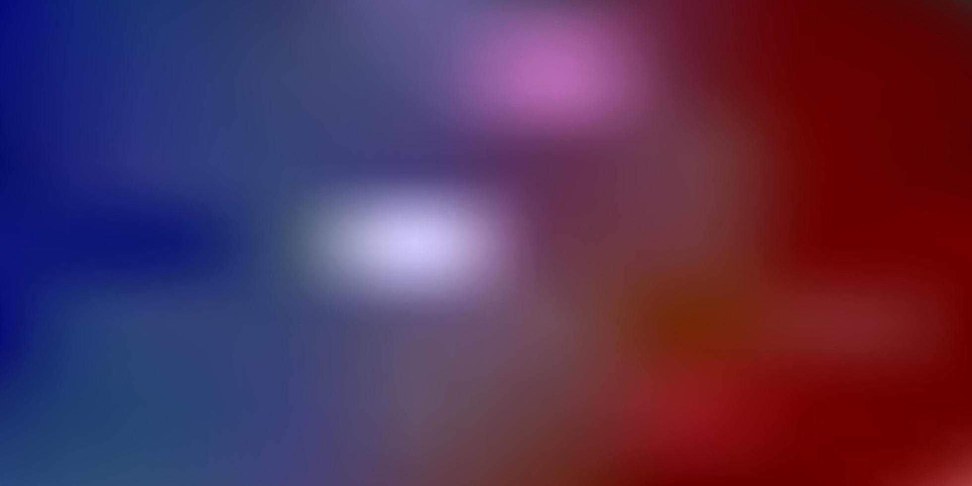 abstrakte Unschärfezeichnung des hellblauen, roten Vektors. vektor