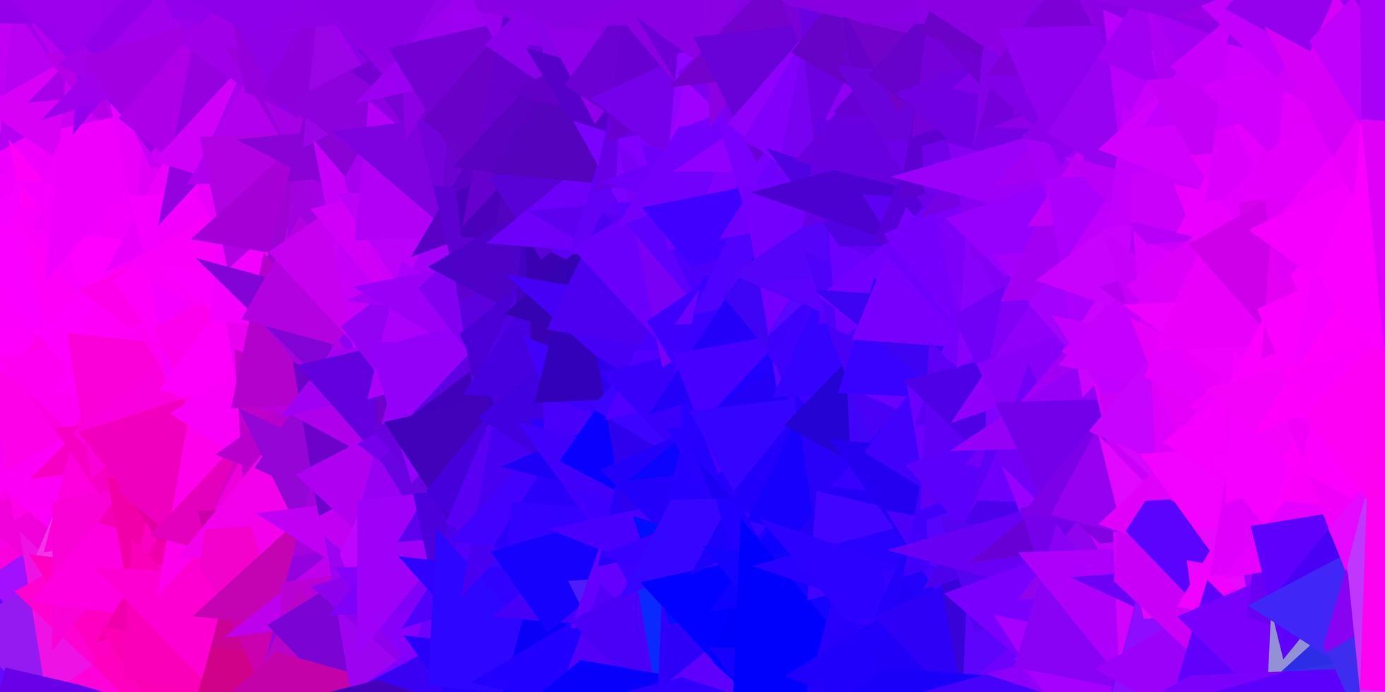 dunkelviolette, rosa Vektordreieck-Mosaikschablone vektor