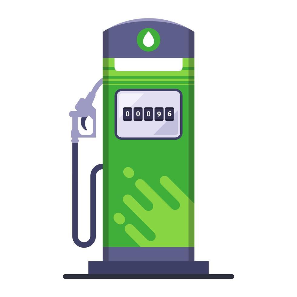 grön miljövänlig bensinstation vektor