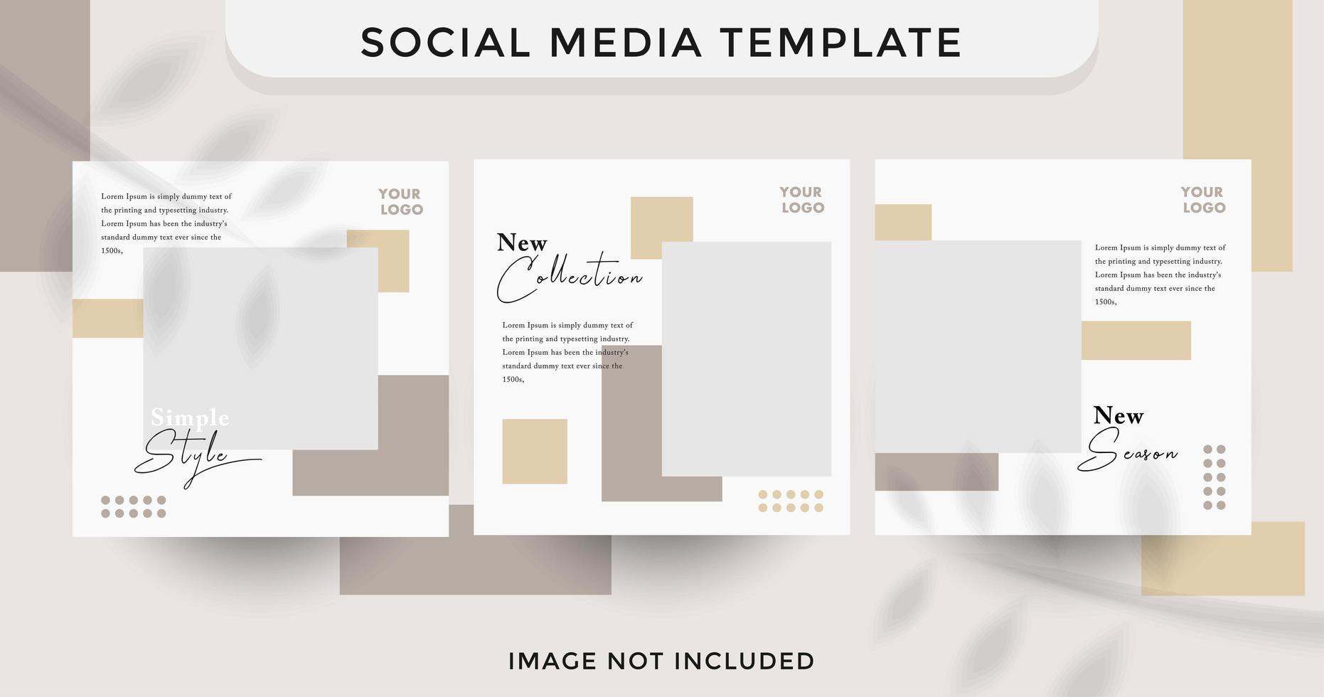 moderne Social Media Mode Vorlage Verkaufsset vektor