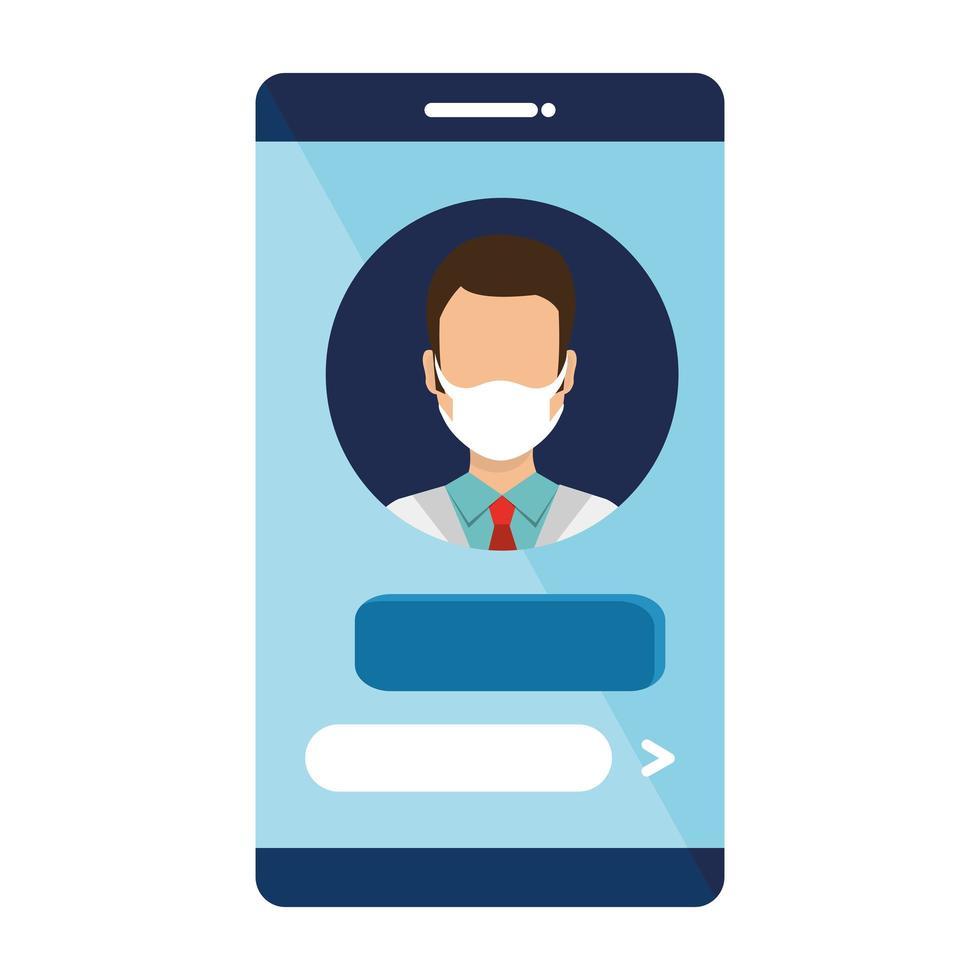 onlinemedicin med läkare på smarttelefonen vektor