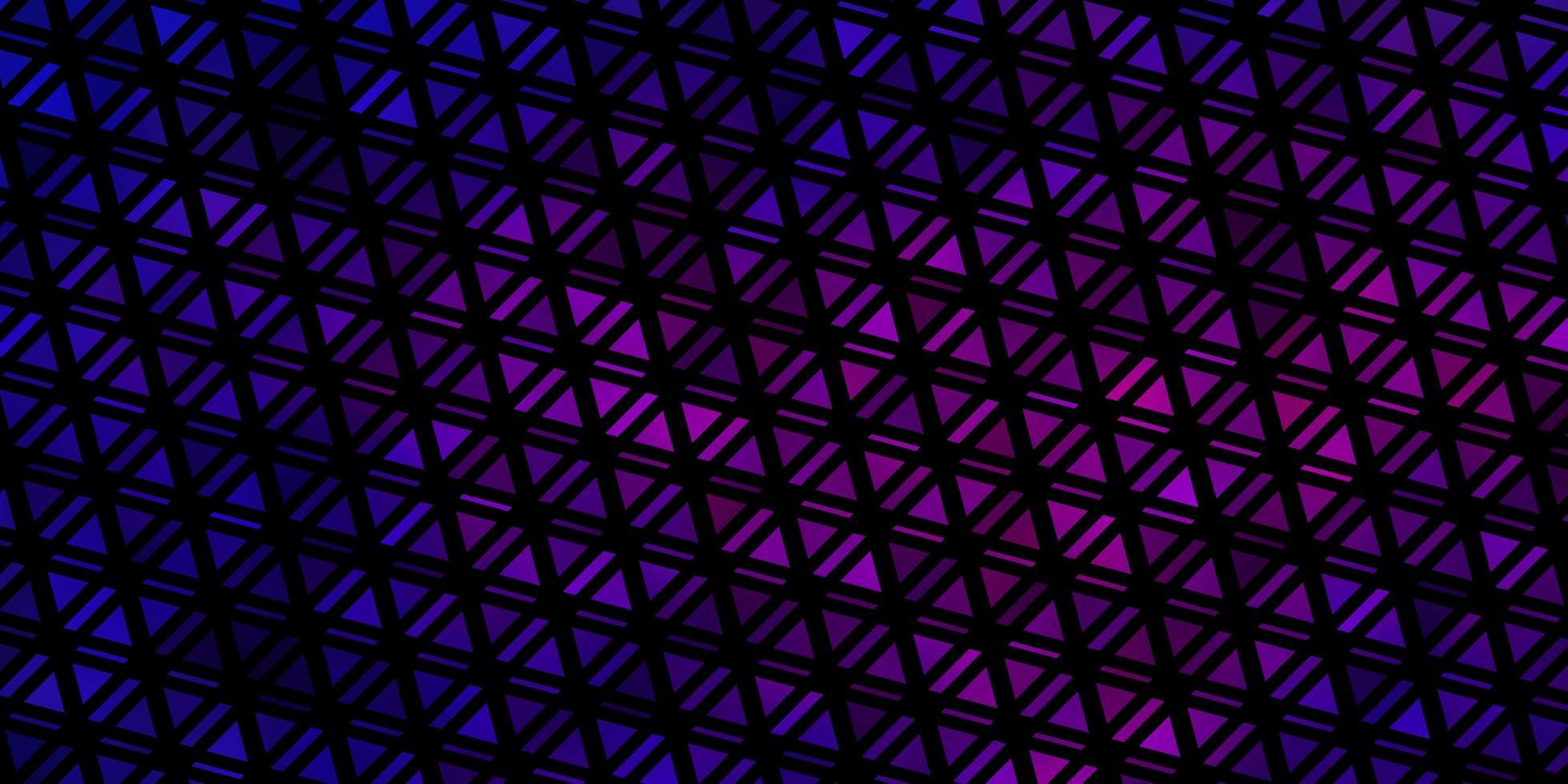 hellblaues, rotes Vektormuster mit polygonalem Stil. vektor