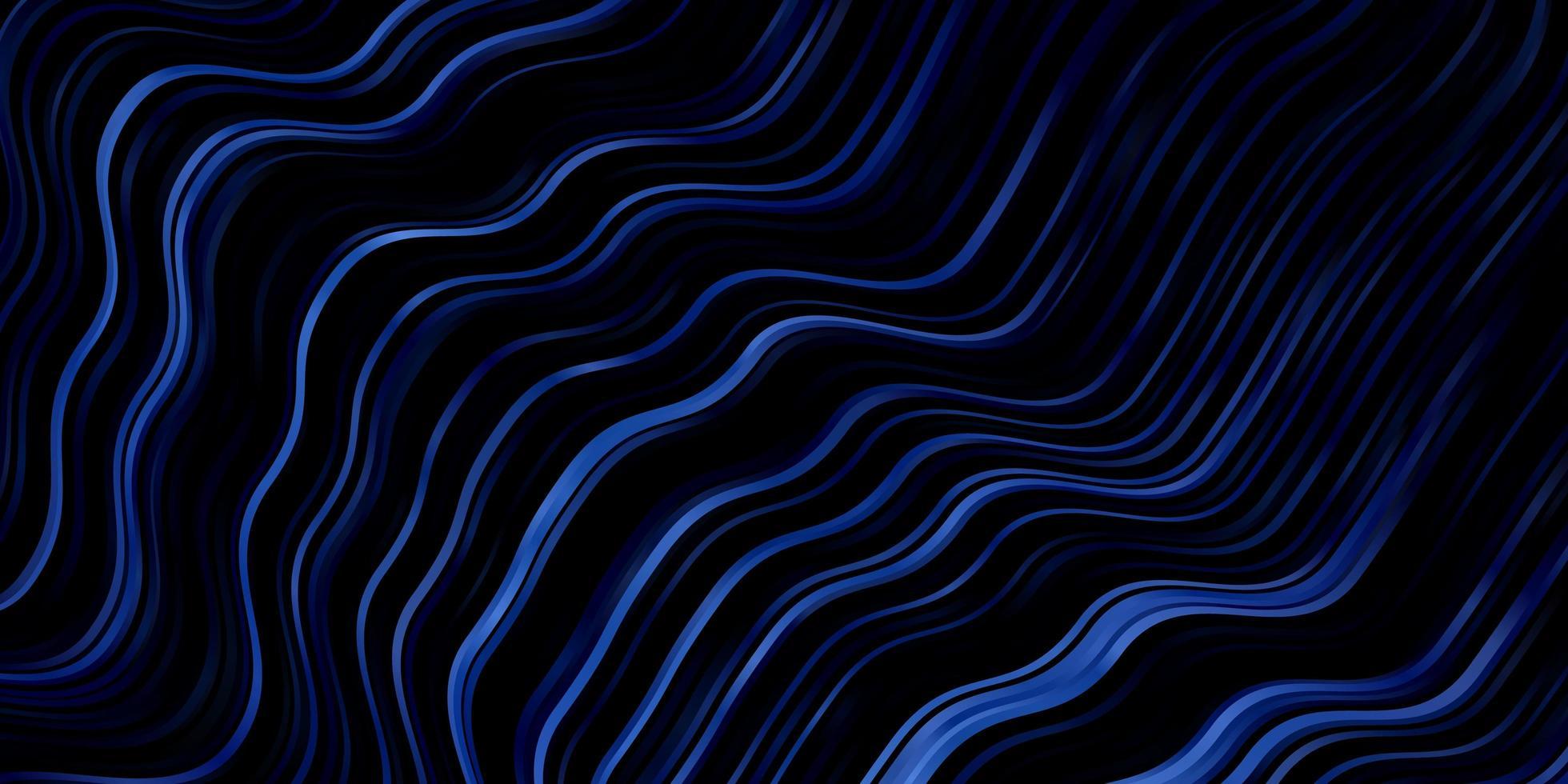ljusblå vektorlayout med kurvor. vektor