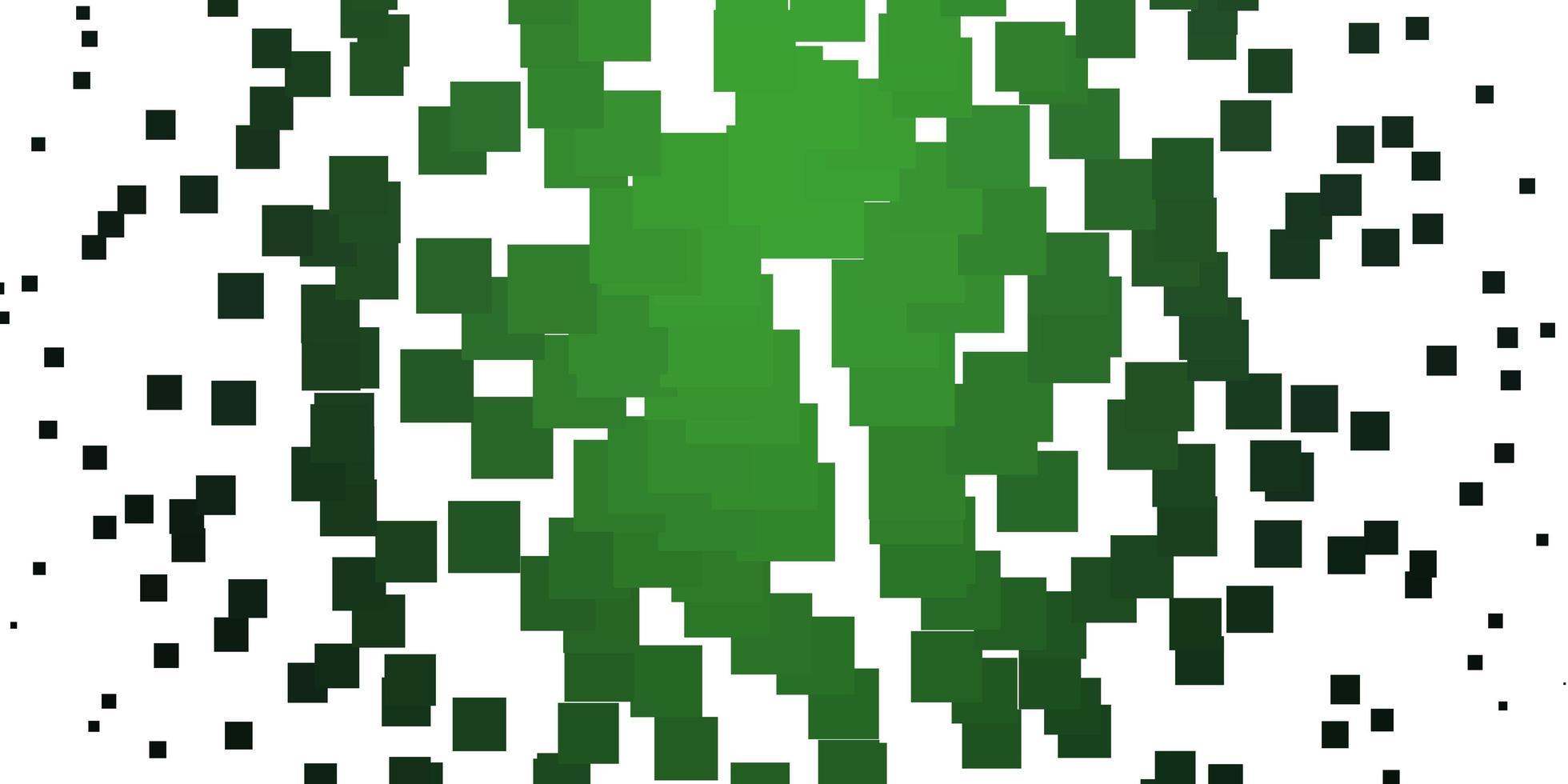 hellgrüne Vektorschablone in Rechtecken. vektor