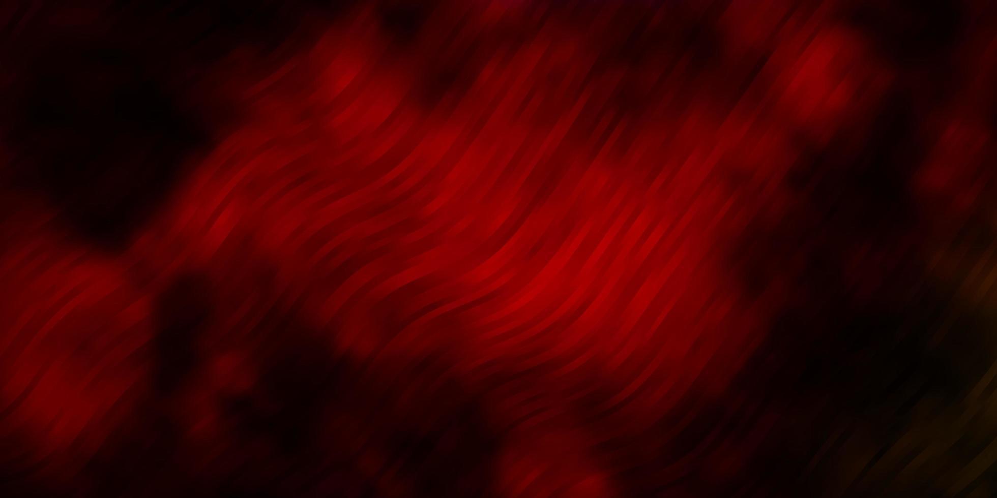dunkler mehrfarbiger Vektorhintergrund mit gebogenen Linien. vektor