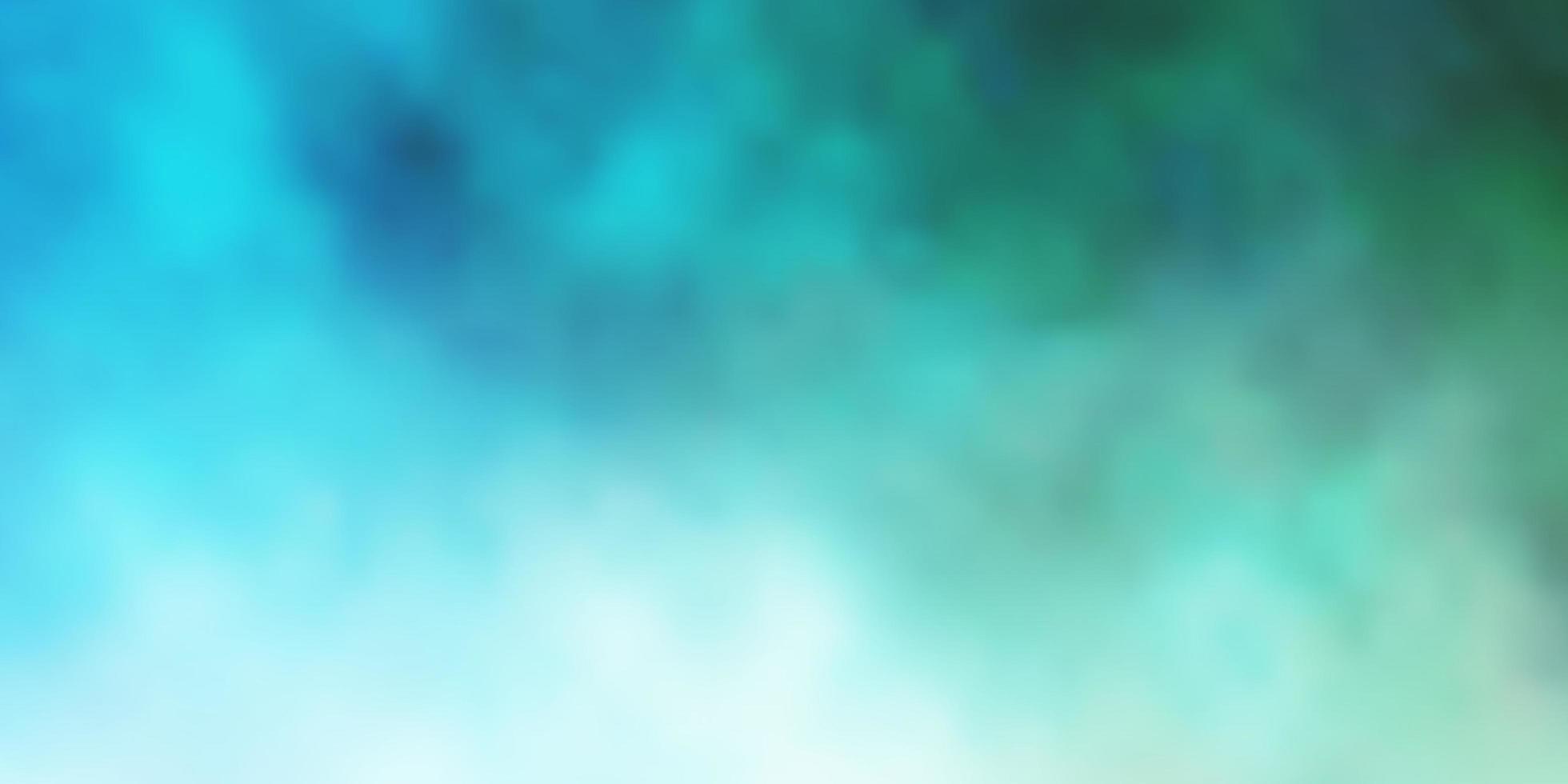 ljusblå, grön vektorstruktur med molnig himmel. vektor