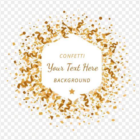 Goldkonfetti-Transparenz-Hintergrund vektor