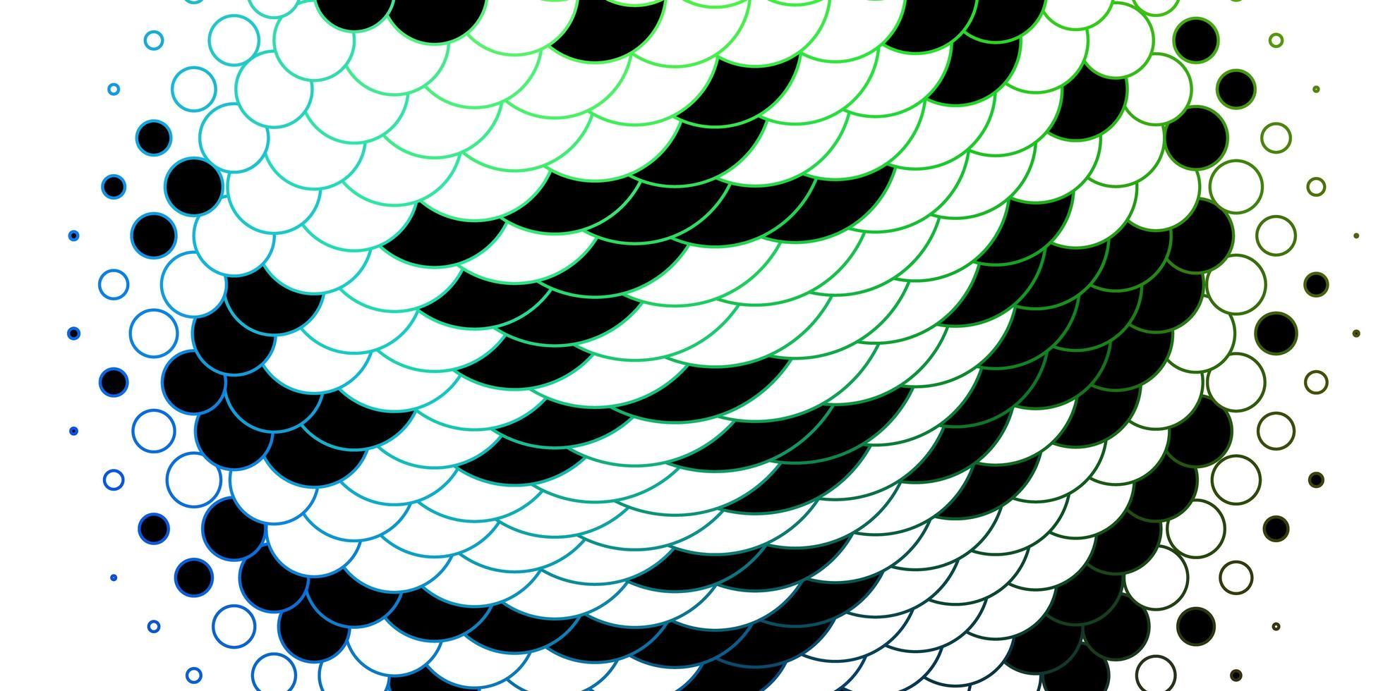 mörk flerfärgad vektormall med cirklar. vektor