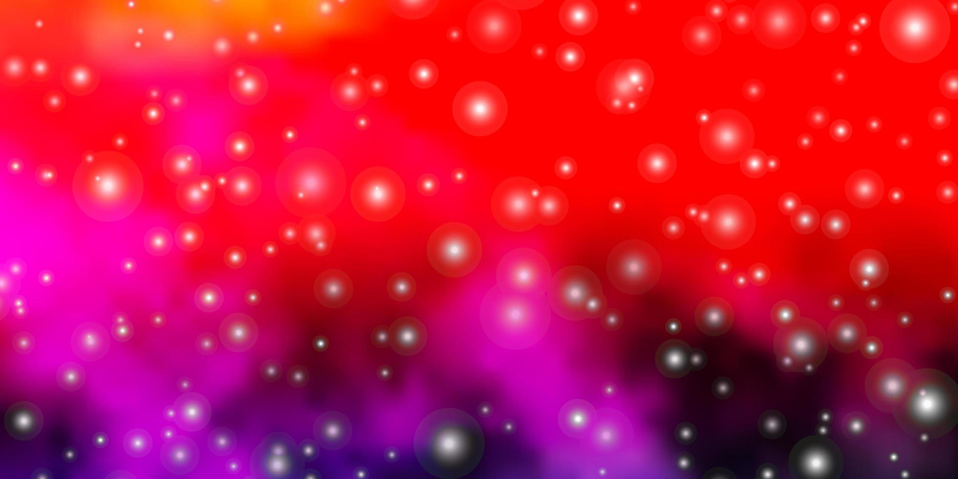 hellrosa, gelbe Vektorschablone mit Neonsternen. vektor