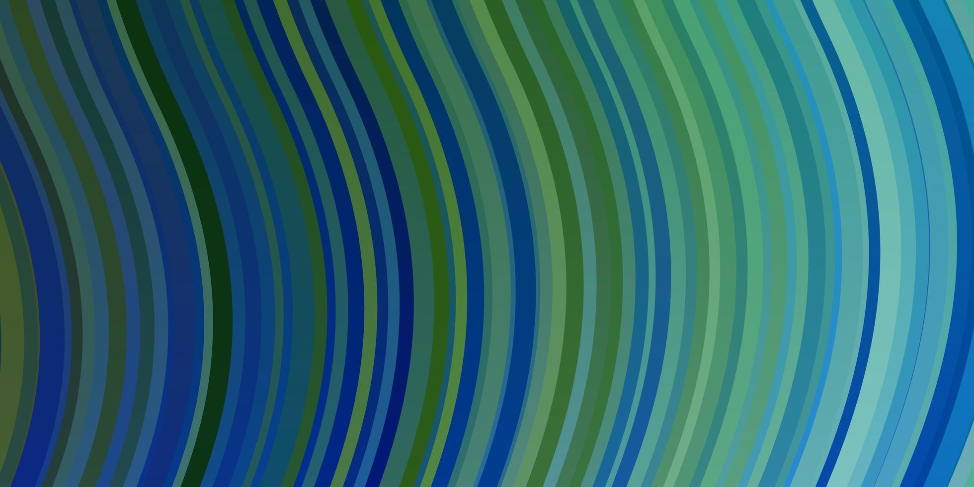 hellblaue, grüne Vektorschablone mit Kurven. vektor