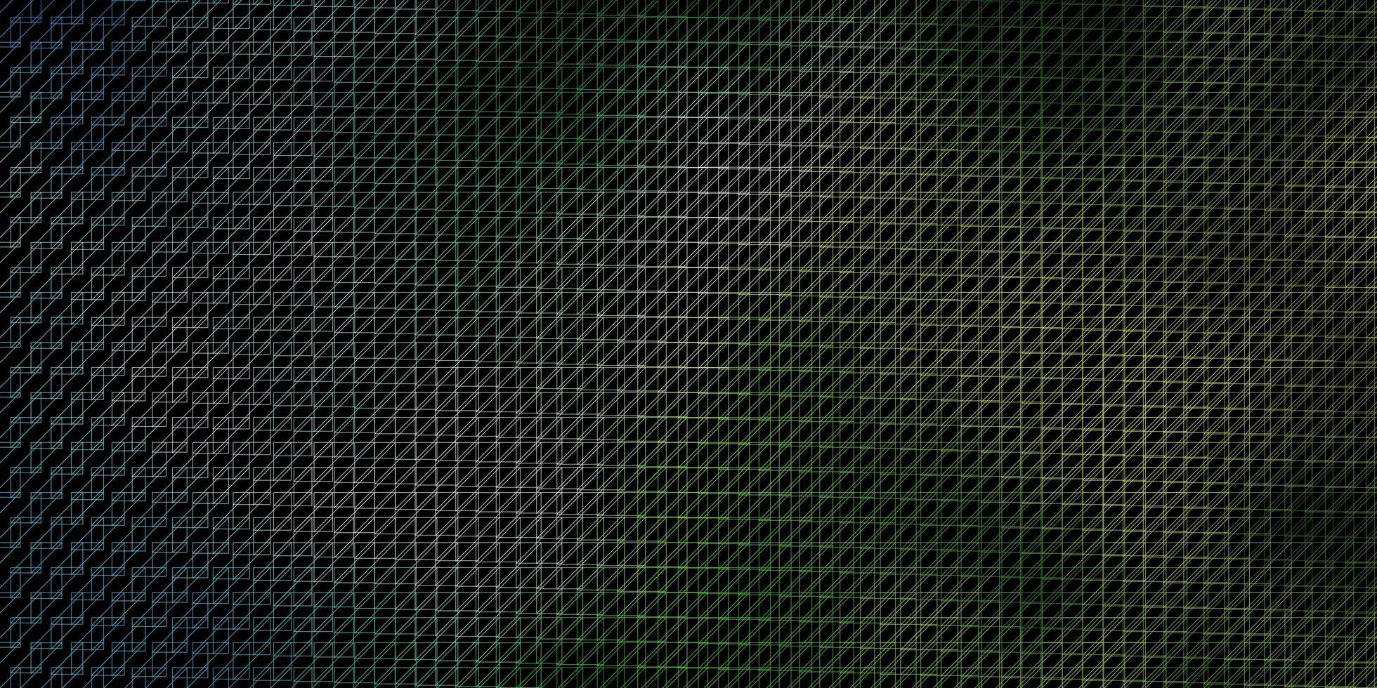 dunkelblauer, grüner Vektorhintergrund mit Linien. vektor