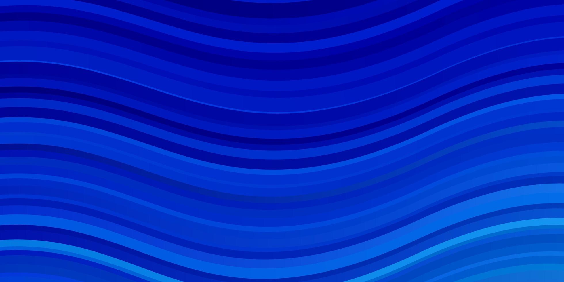 hellblaue Vektorschablone mit gekrümmten Linien. vektor