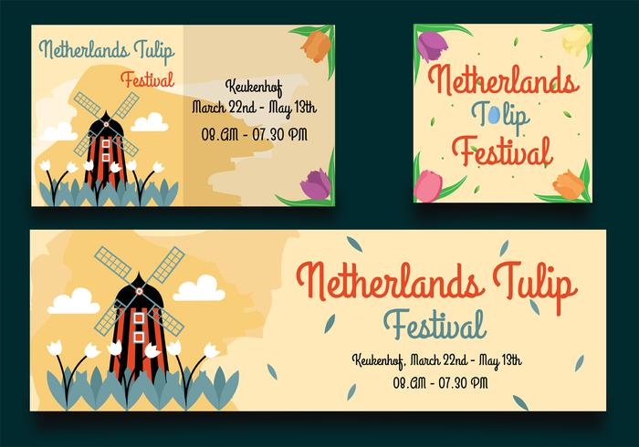 Niederlande Tulip Festival Einladung vektor