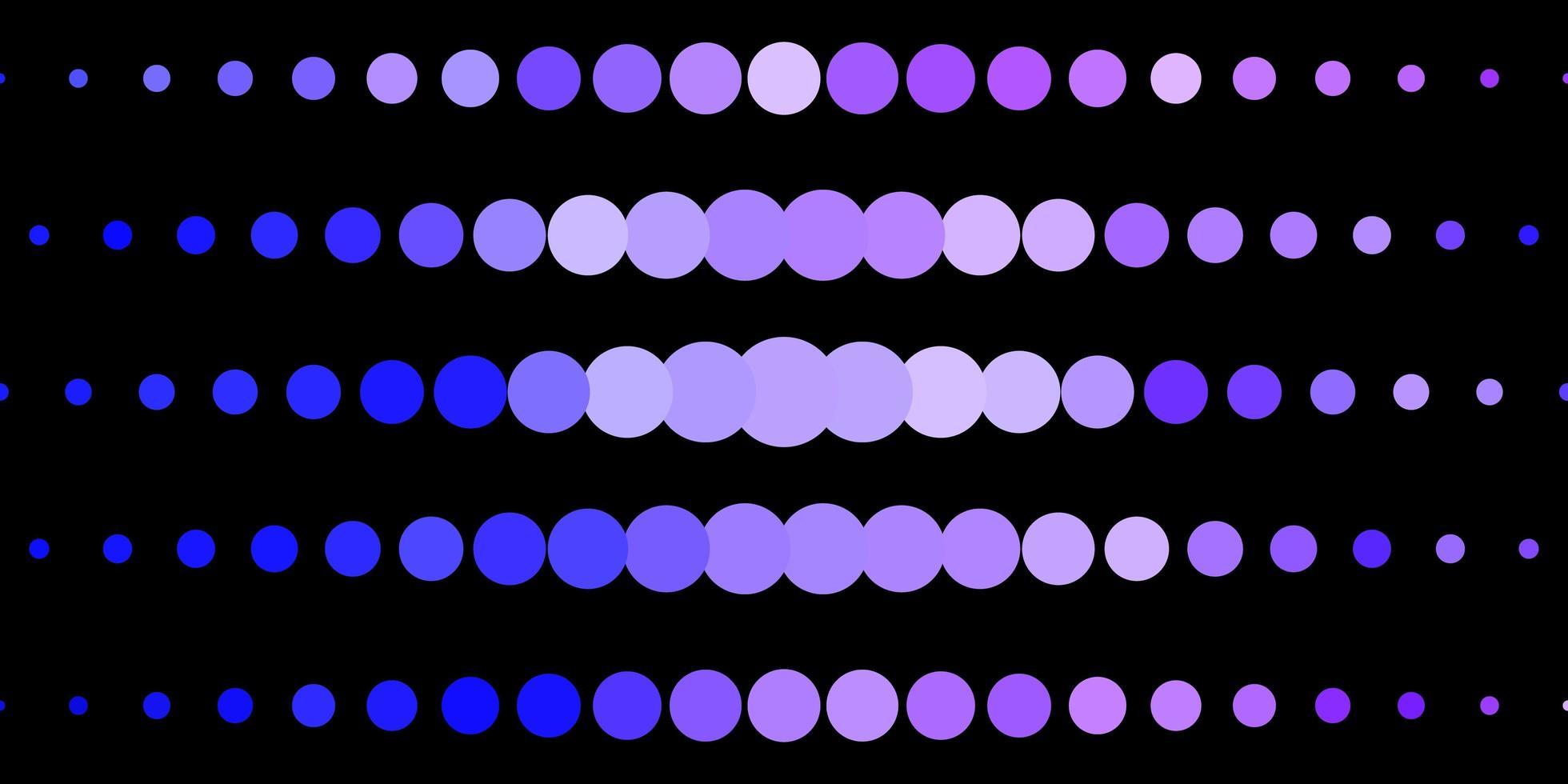 dunkelrosa, blauer Vektorhintergrund mit Flecken. vektor