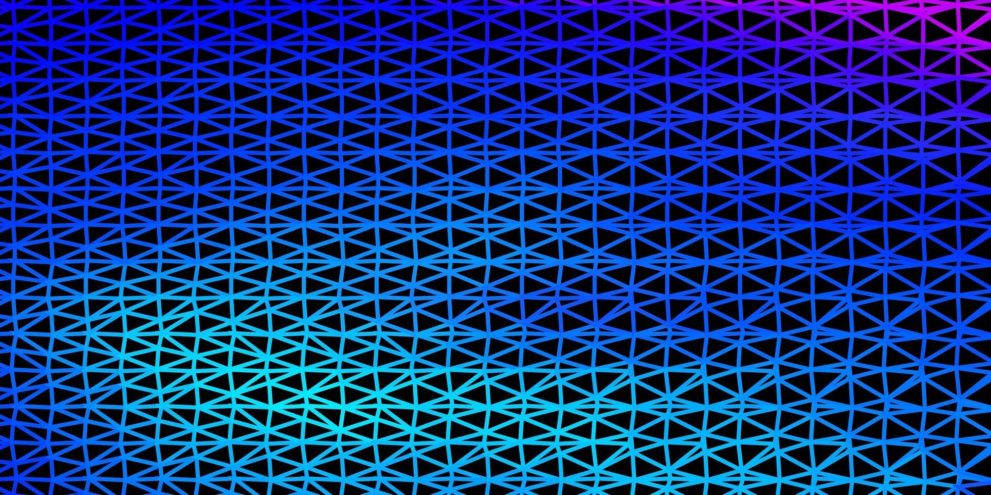 hellrosa, blauer Vektordreieckmosaikhintergrund. vektor