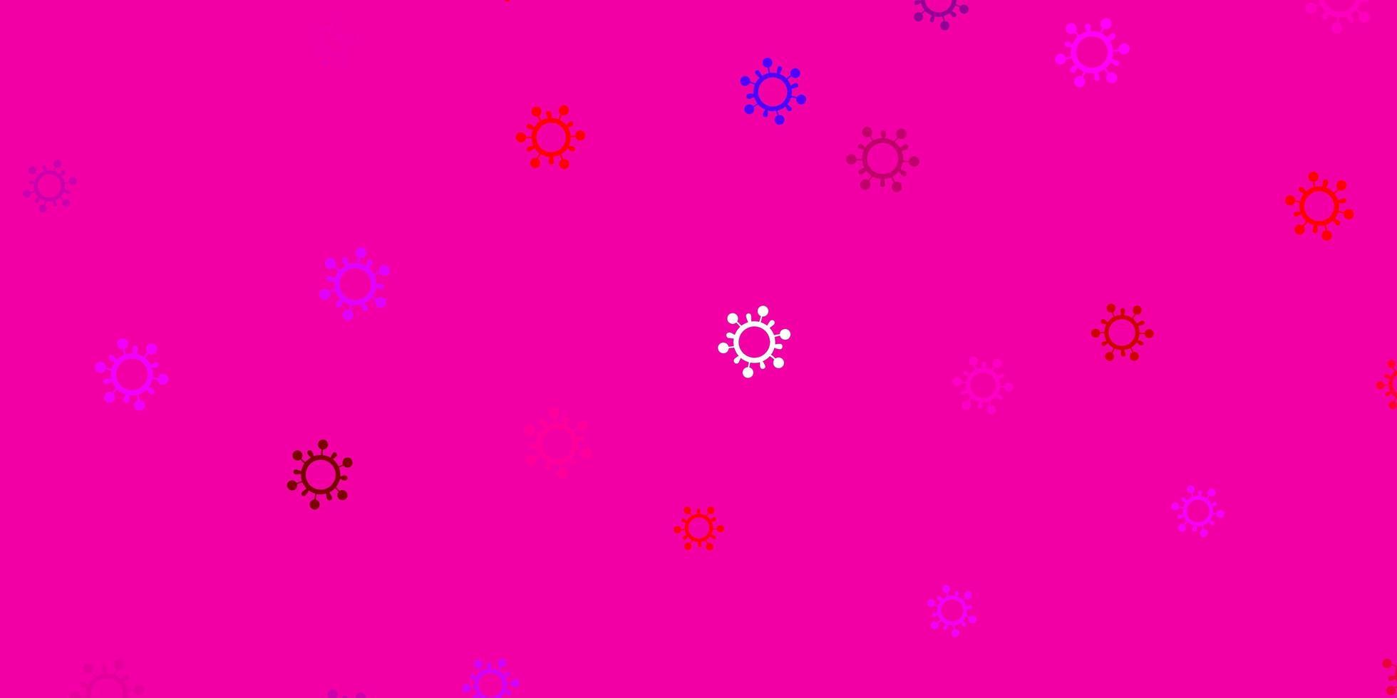 hellrosa, rote Vektorbeschaffenheit mit Krankheitssymbolen vektor