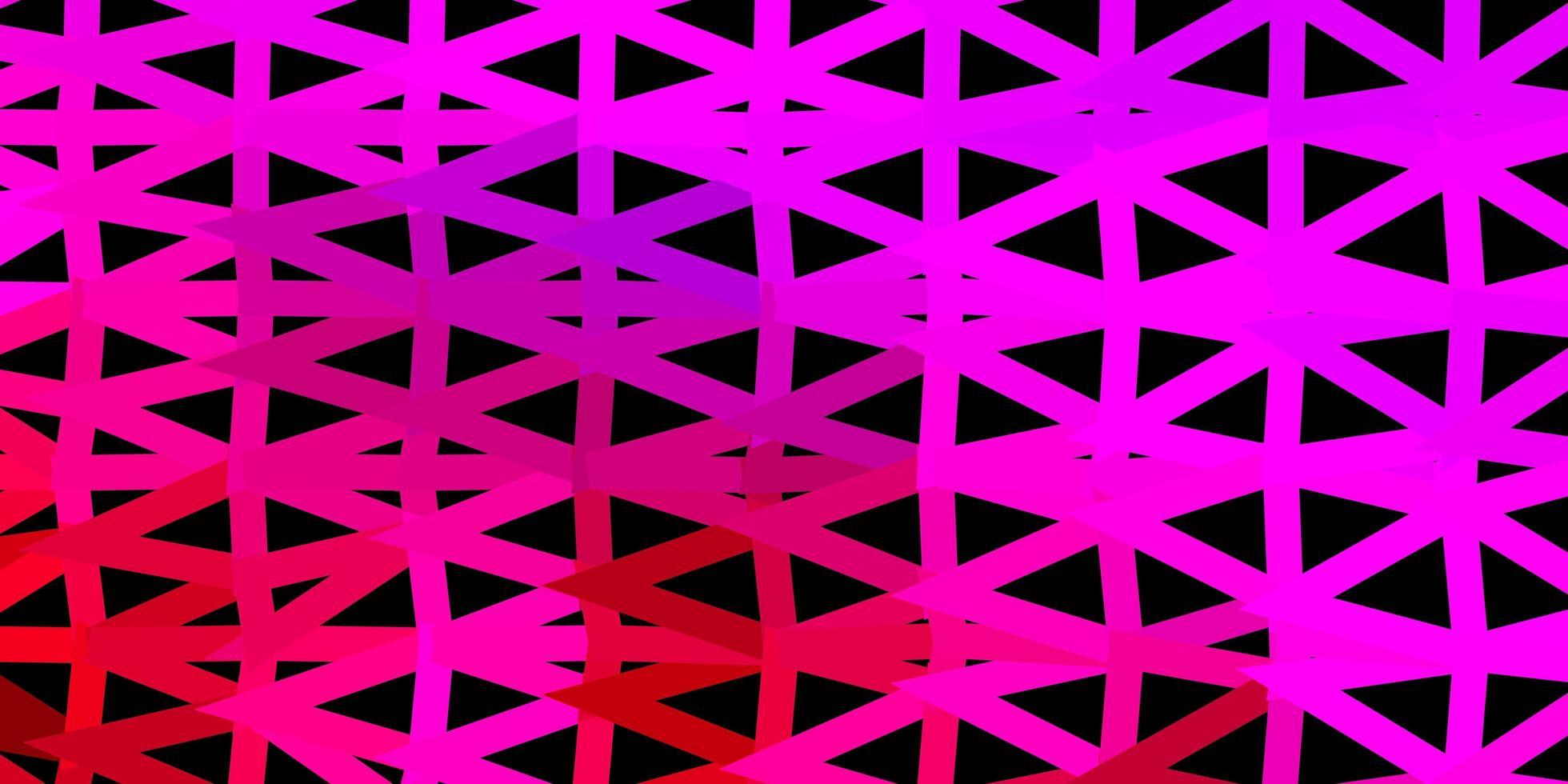 dunkelrosa Vektor-Gradienten-Polygon-Textur. vektor