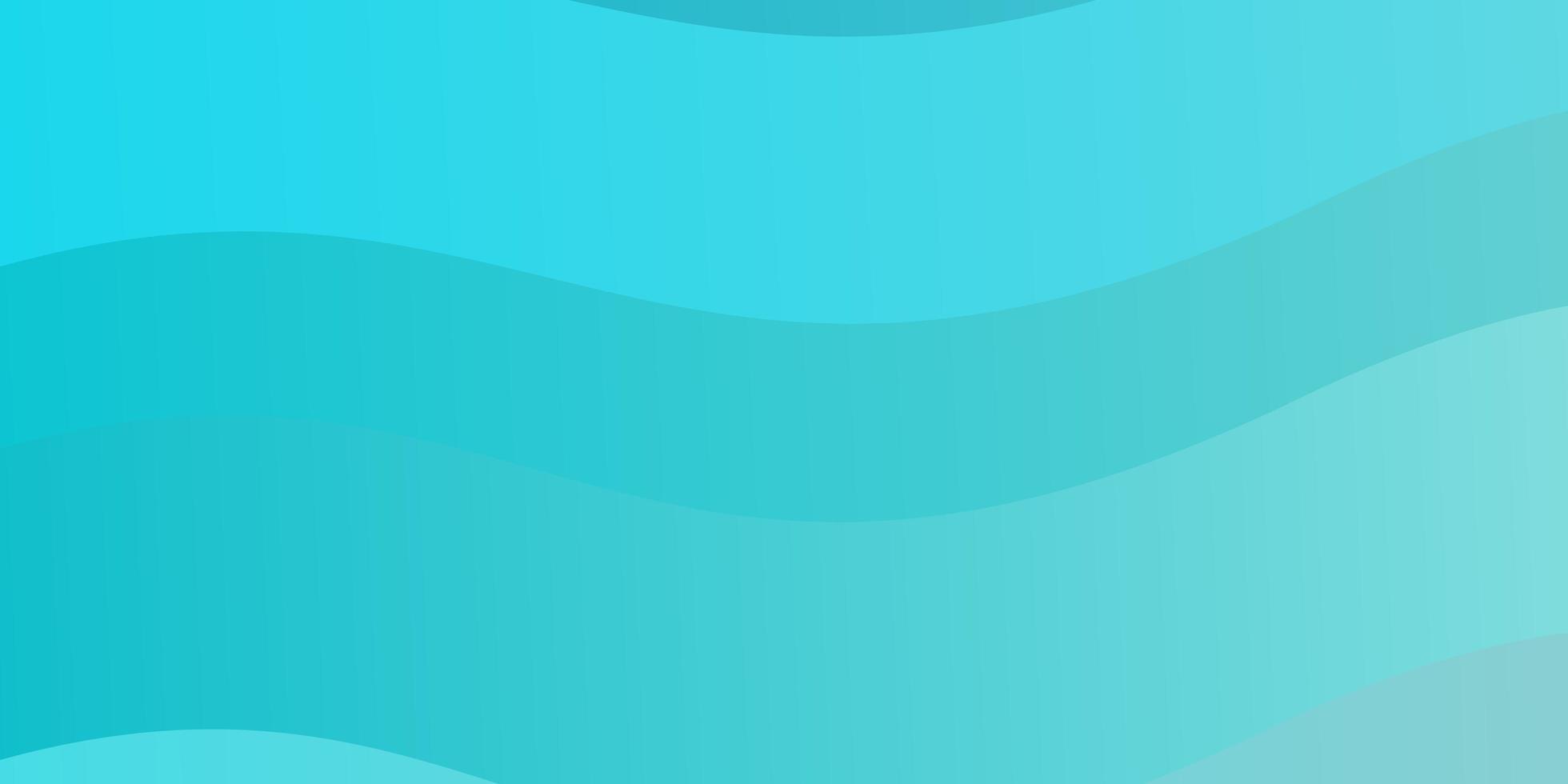 ljusblått, grönt vektormönster med böjda linjer. vektor