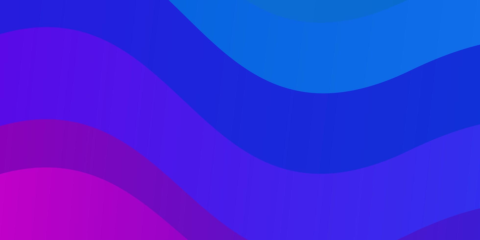 hellrosa, blauer Vektorhintergrund mit Kurven. vektor