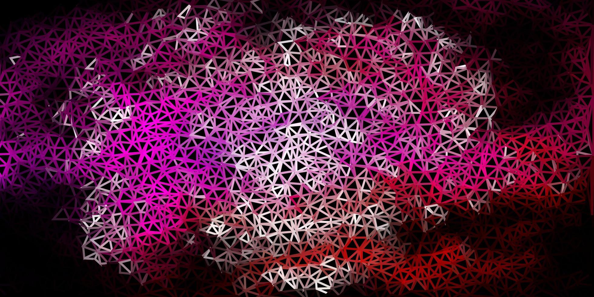mörkrosa vektor abstrakt triangel konsistens.