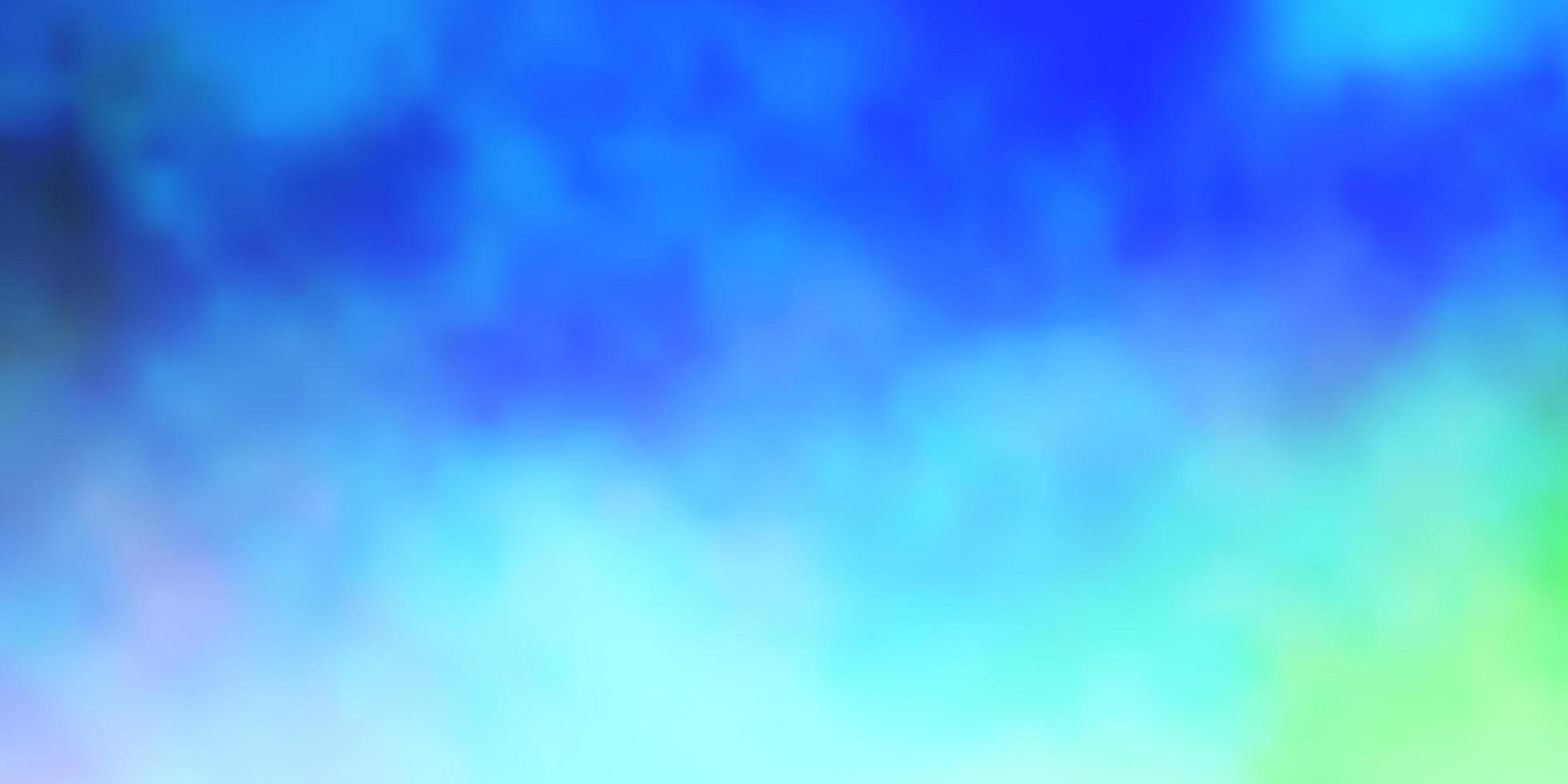 ljusblå, grön vektorlayout med molnlandskap. vektor