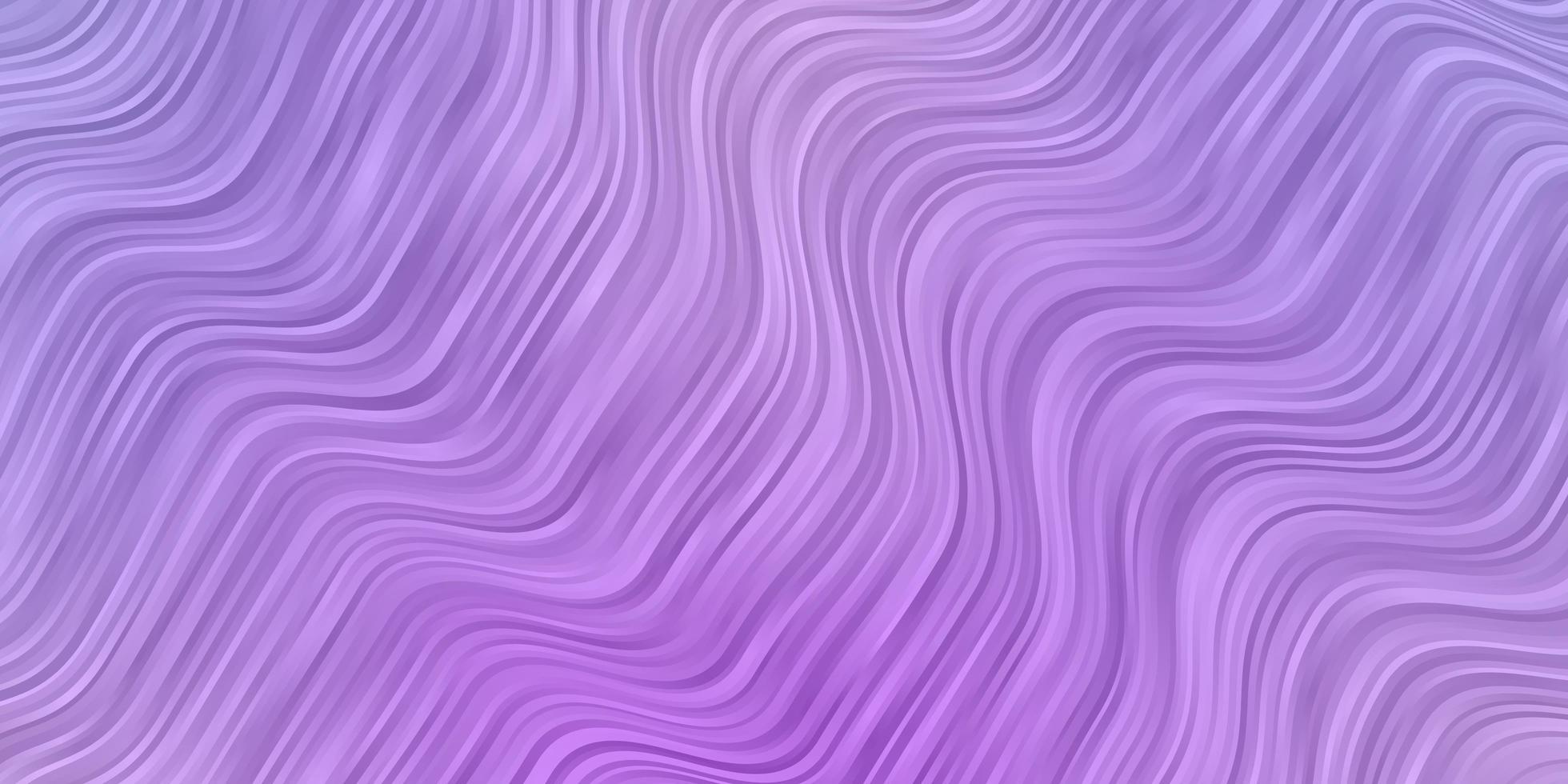 hellvioletter Vektorhintergrund mit Kurven. vektor