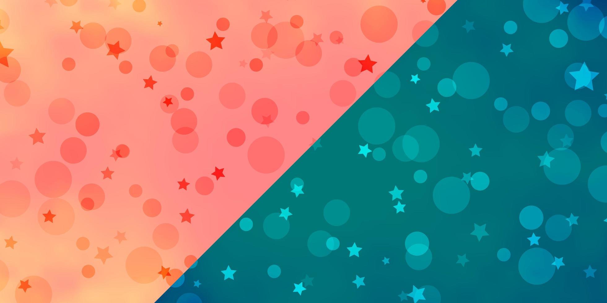 vektor bakgrund med cirklar, stjärnor.