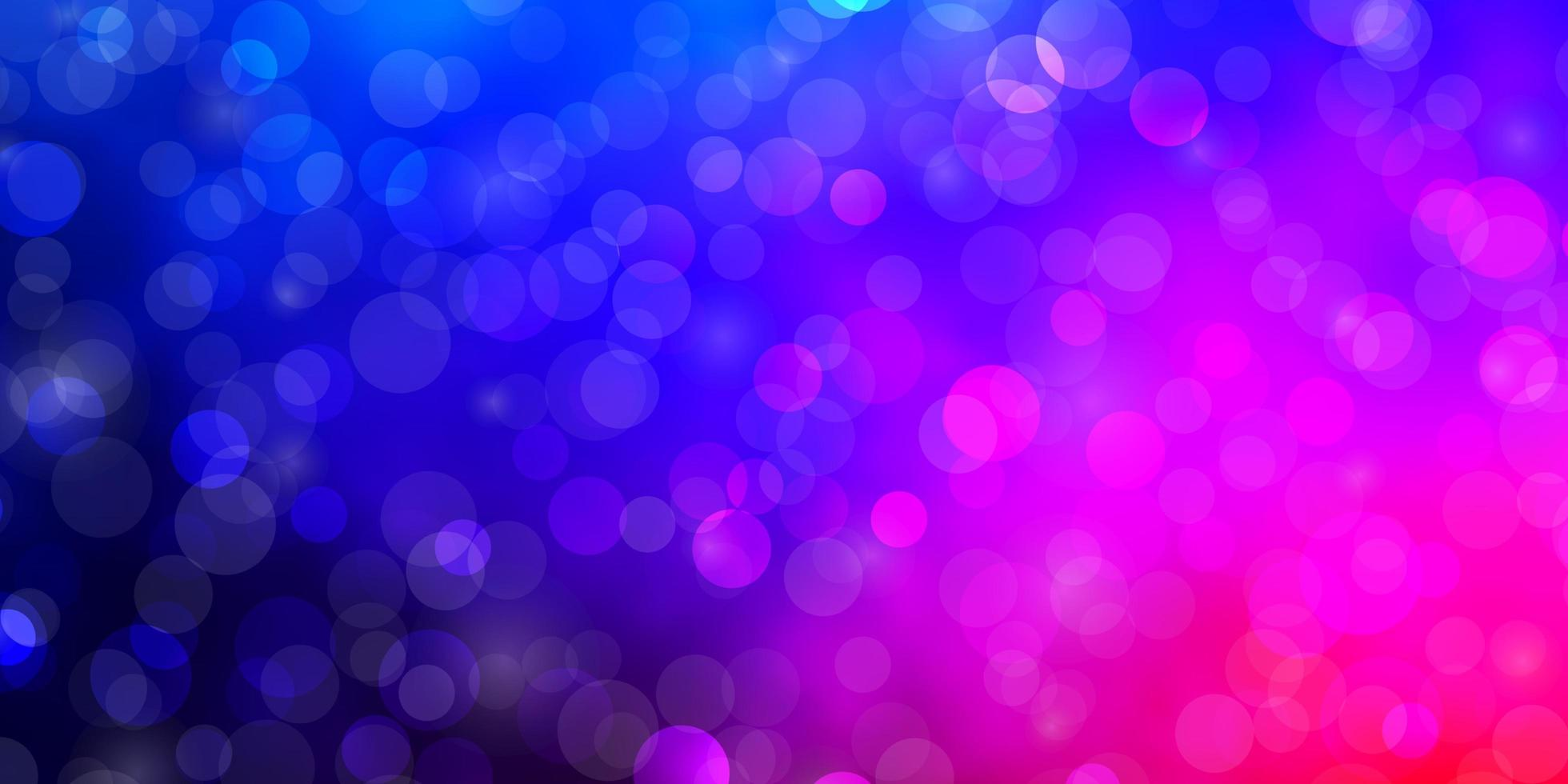 dunkelblauer, roter Vektorhintergrund mit Kreisen. vektor