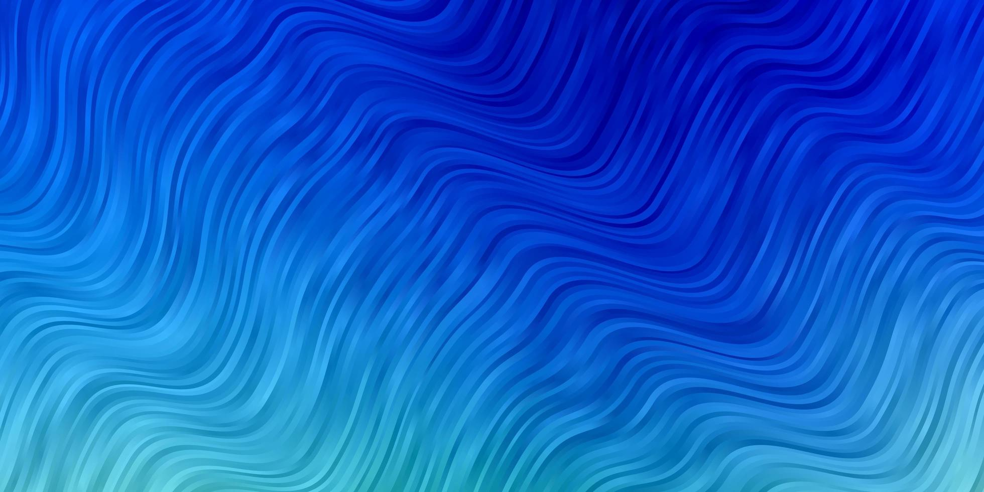 hellblaues, grünes Vektormuster mit gekrümmten Linien. vektor