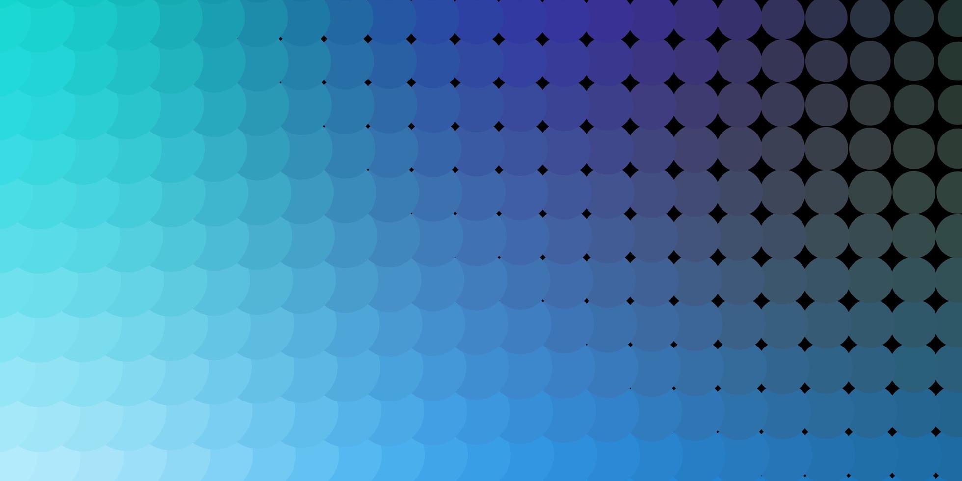 ljusblå, grön vektorbakgrund med cirklar. vektor