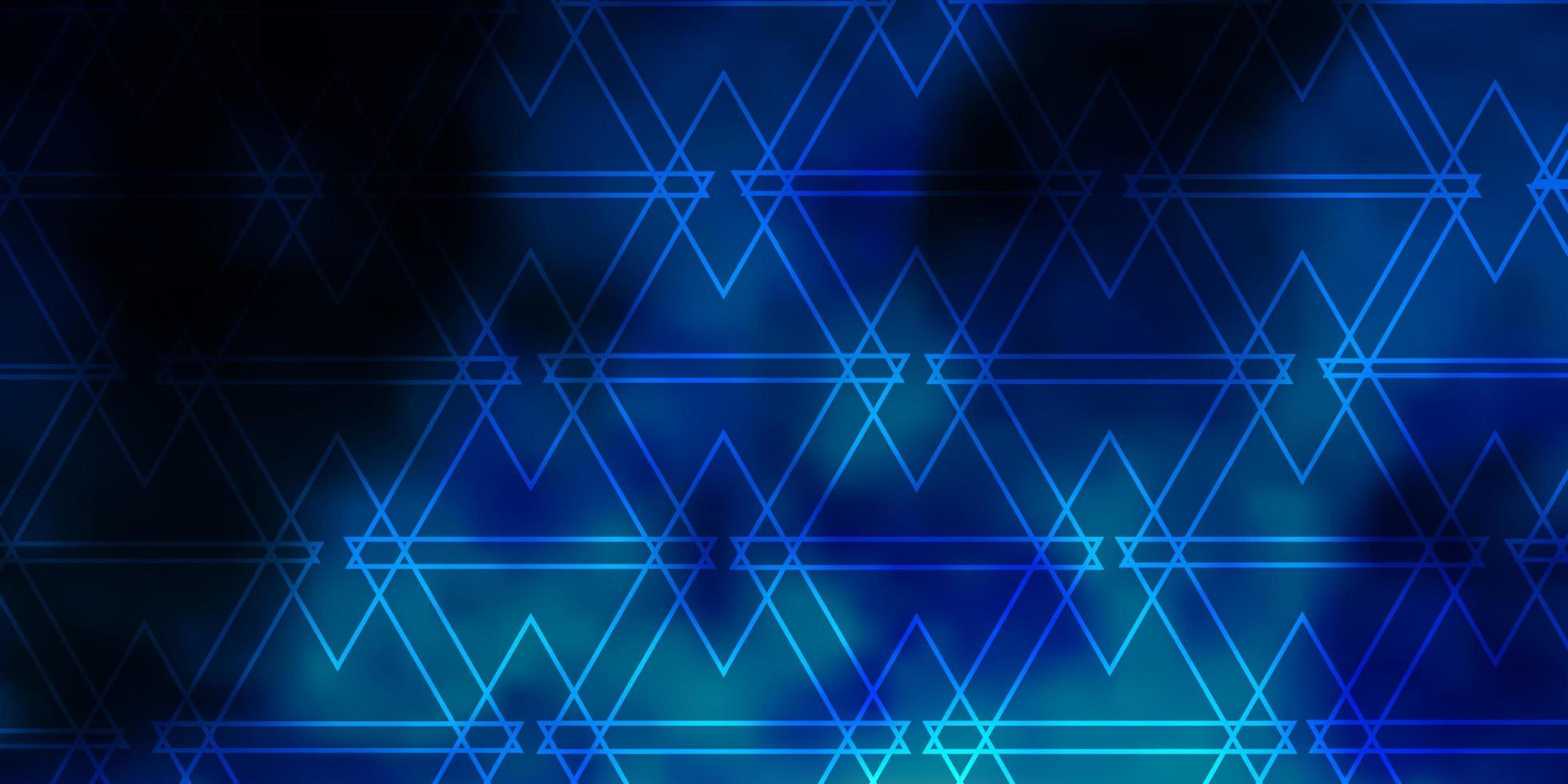 hellblaues Vektorlayout mit Linien, Dreiecken. vektor