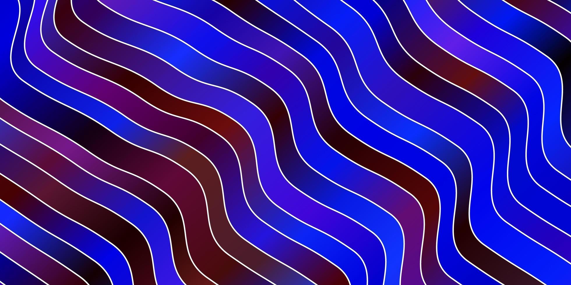 mörkblå, röd vektorlayout med kurvor. vektor