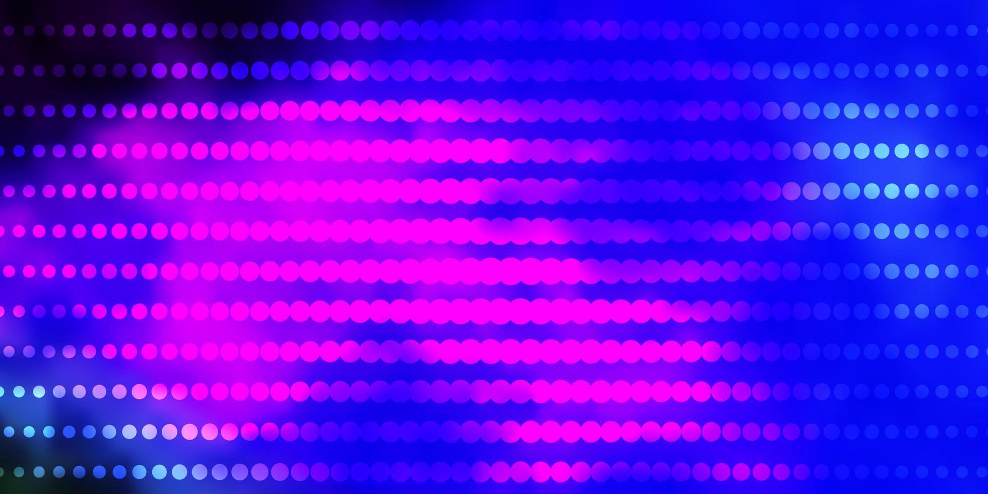 dunkle mehrfarbige Vektorschablone mit Kreisen. vektor