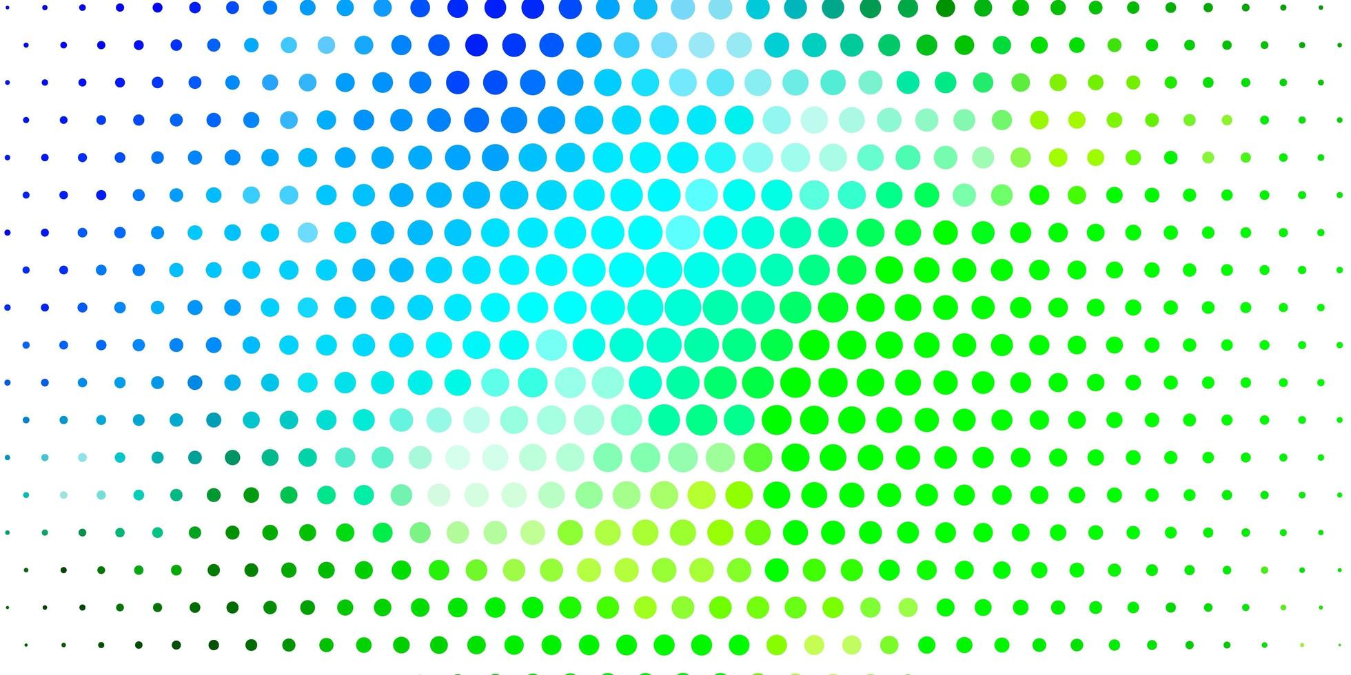 hellblaues, grünes Vektorlayout mit Kreisformen. vektor