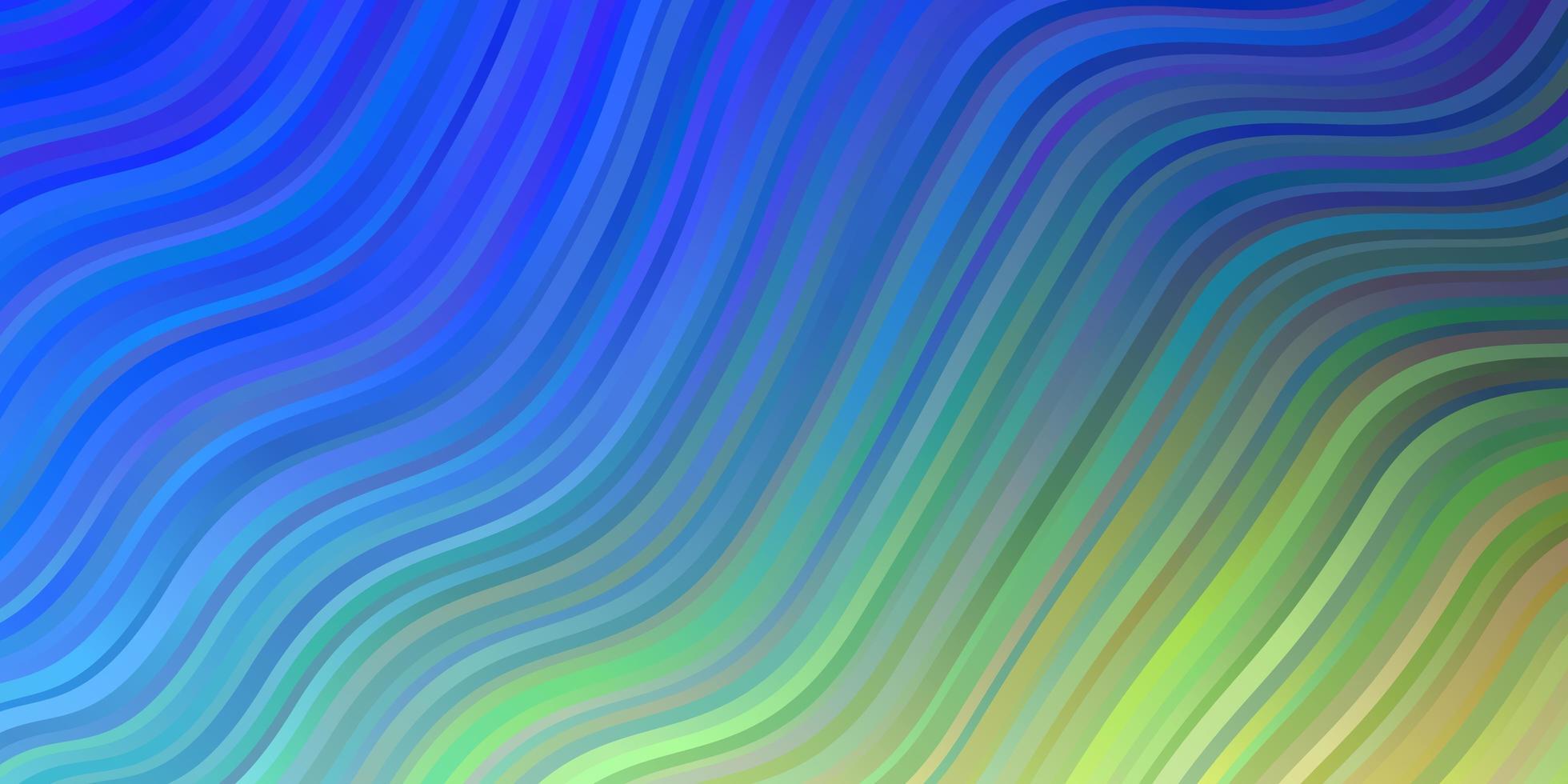 hellblauer, grüner Vektorhintergrund mit trockenen Linien. vektor